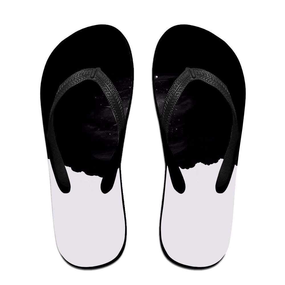 Unisex Summer Beach Slippers Space Flip-Flop Flat Home Thong Sandal Shoes