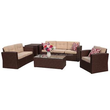 Super Patio Patio Furniture Set 8 Piece Outdoor Wicker Sectional