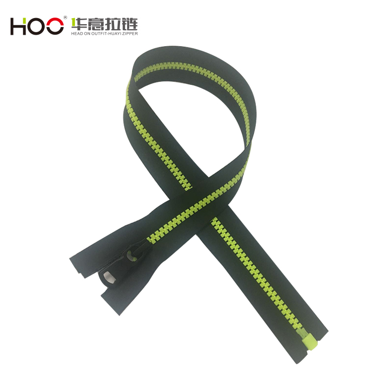 Wholesale #5 black tape open end plastic zippers
