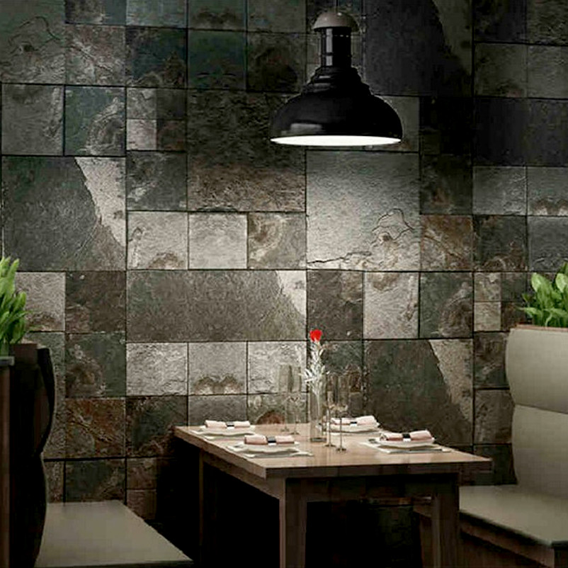faux stone brick wallpaper - photo #35