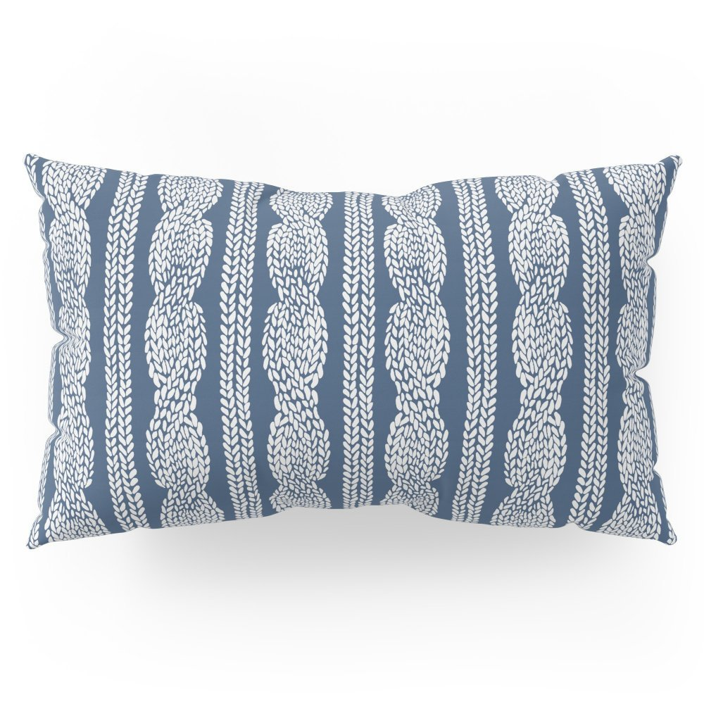 "Society6 Cable Knit Navy Pillow Sham King (20"" x 36"") Set of 2"