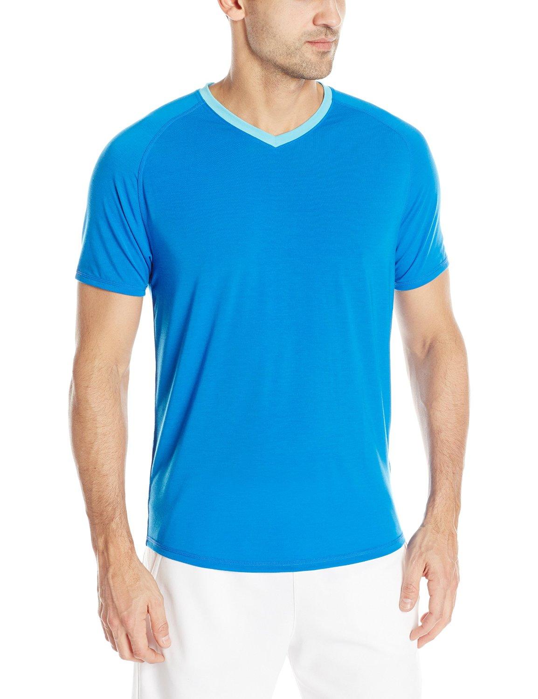 Saucony Mens Freedom V Neck Short Sleeve Shirt Tops