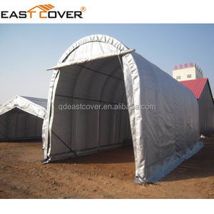 factory price low cost temporary round fabric carports