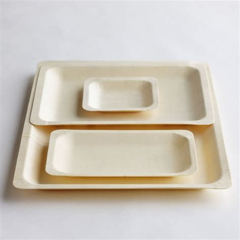 Hot Rectangle Wood Tableware Plates Food Dishes