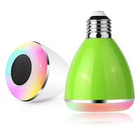 New Wireless Audio Speaker LED bulb lighting Smart Music bulb AC100-240V RGB Lamps E27 led bluetooth speaker remote control bulb