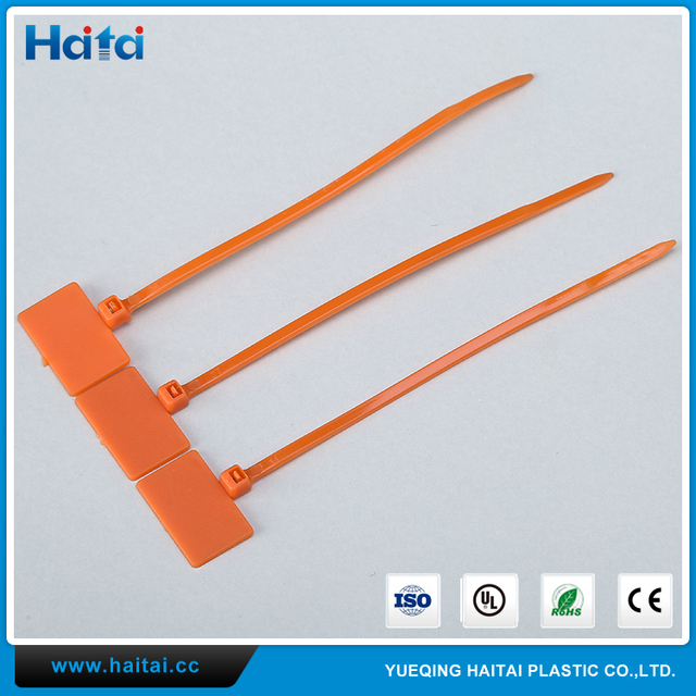Haitai Zip Tie Manufacturer Discount Flag Type Marker Nylon66 Cable Tie With Label Tag