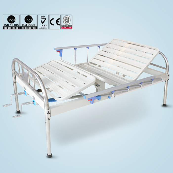 Durable double cranks stainless steel medical hospital beds for sale