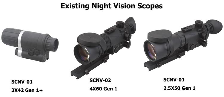 OEM Zafer Optik 4x60 Gen1 Teleskop Dijital Zoom Monoküler Gece Görüş Kapsam Tüfek wih Gece Tüfek Avcılık Kızılötesi IR