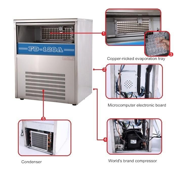 Hot sale plate ice maker evaporator in hotel