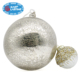 Giant Crackled Mercury Big Christmas Glass Ball Ornament, Big Xmas Ball