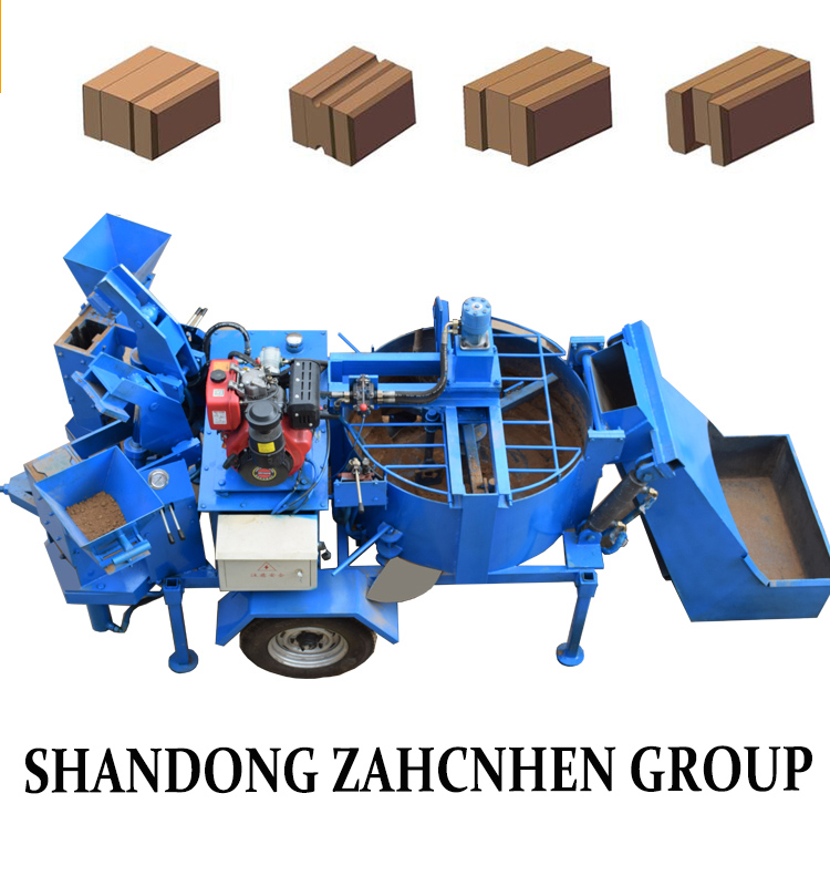 QT2-10 Energy saved manual interlocking clay brick making machine with manufacture price