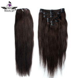 best virgin hair vendors wholesale hot selling beauty color natural human hair clip in extensions