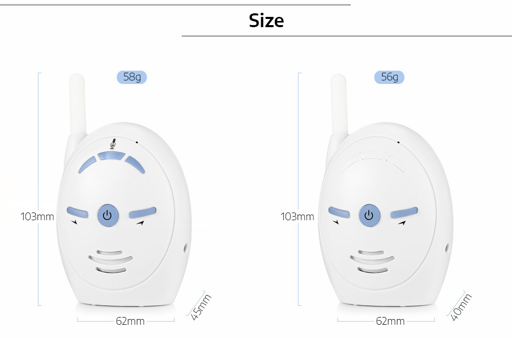 V20 2 Way Audio Baby Monitor Wireless Digital 2.4ghz Walkie-talkie Nanny Babysitter Kids Intercom Baby Alarm