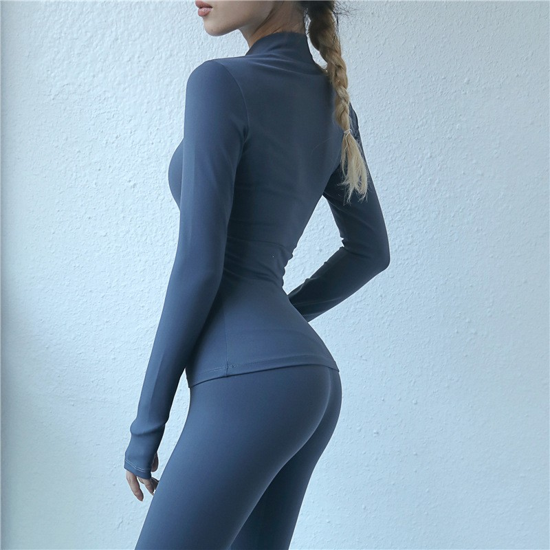Custom Compression Long Sleeves T Shirts With Zip 100% Cotton Make Your Own Compression Shirts 3