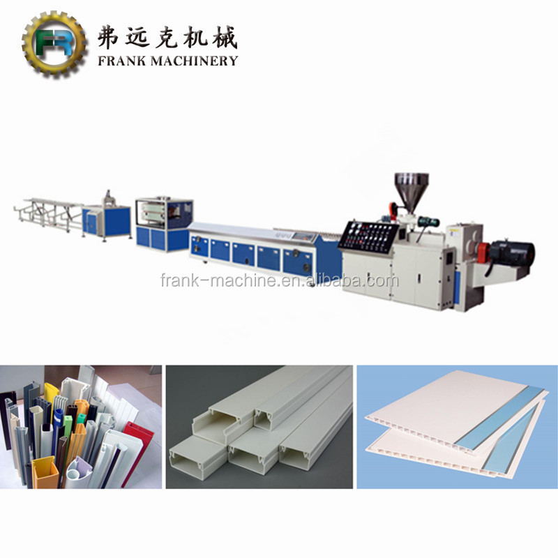 Pvc Corner Profile Making Machine Plastic Window Door Frames Profile Extruder