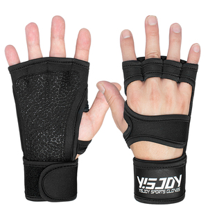 2019 New Padded Grip Wrist Support Workout Gloves Yoga Pilates Weight Lifting Fitness WOD Cross Training Crossfit Gym Glove