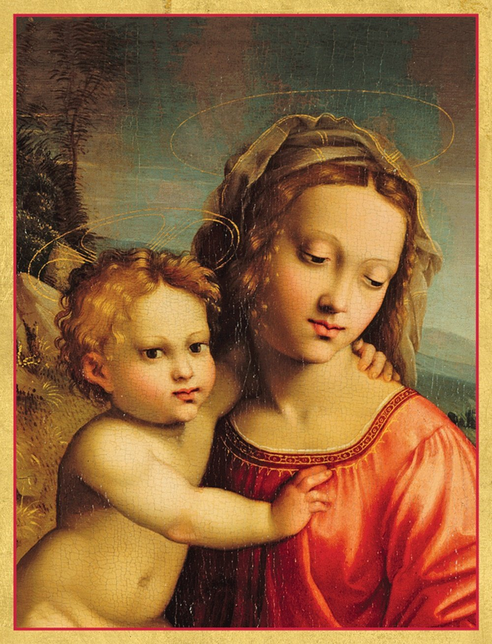 Buy Entertaining with Caspari Madonna and Child Christmas Cards (Box ...
