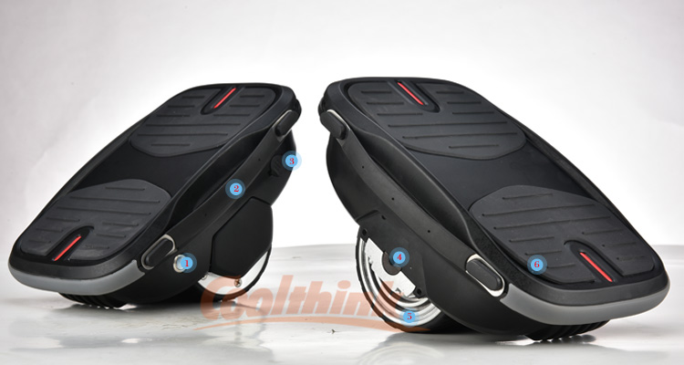 Hot sale fashion portable electric smart single wheel air cushion shoes one wheel self balancing scooter