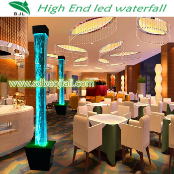 Led Waterfall Acrylic Aquarium Chinese Restaurant Decoration Supply