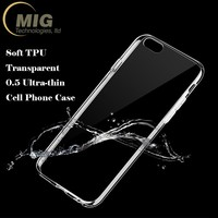 For iPhone 7 case TPU Soft 0.5mm Ultra thin Transparent Clear Cell phone case for Iphone 5 6 7 for Galaxy S8 S8 plus Case