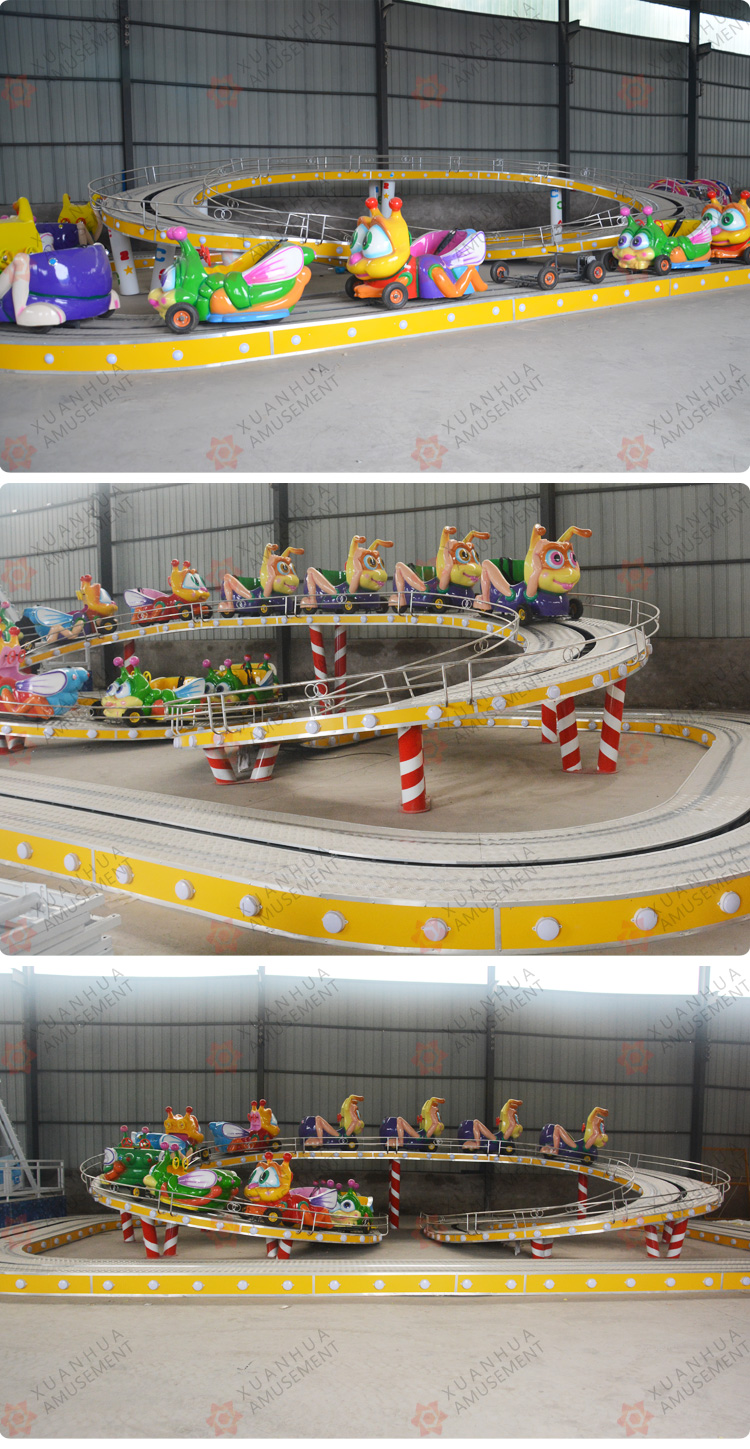 20 Seats Park ride electric track train car theme park ride outdoor playground mini shuttle