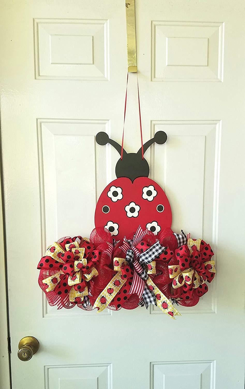 Ladybug Wooden Door Hanger