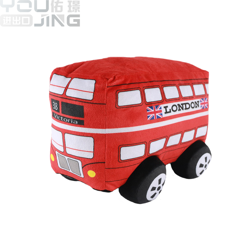 Made In China Manufacturer Price Stuffed Custom Made London Car Plush Toys Bus For Kids