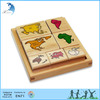 Montessori wooden scratch world map toy continent stamps