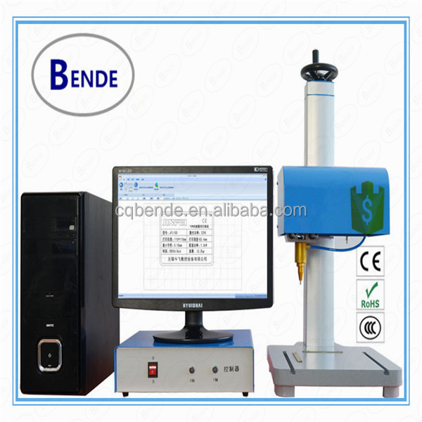 Many metal materials dot peen marking machine price with rotary device