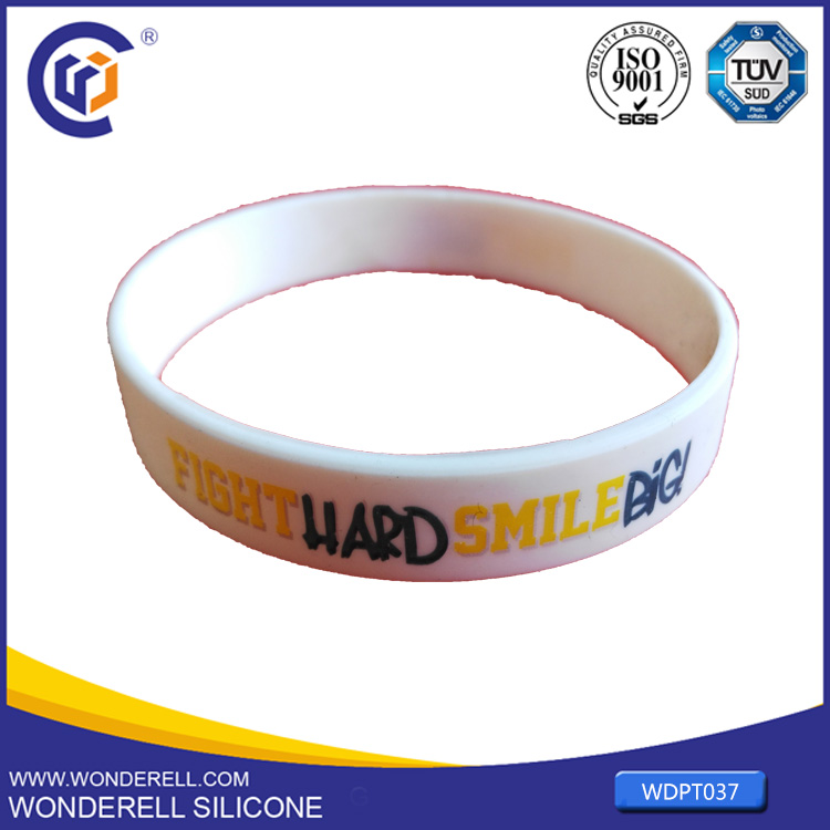 Fitness and Bodybuilding Silicone Bracelet with Logo Printed custom silicone gift for company