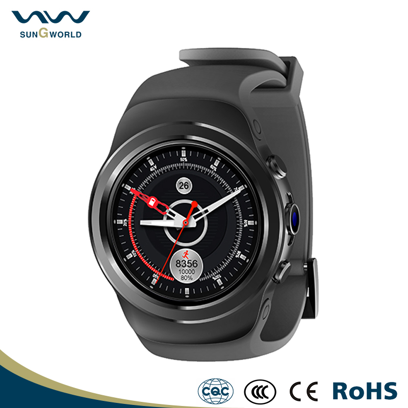 Round Android Smart Watch Phone with Wifi SIM Heart Rate Monitor GPS 2G Health Sport Bluetooth Smartwatch for Android ISO Phone