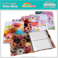 Wholesale High Quality Printing Plastic Cover Wedding Photo Guest Books With 3x5 Inch Pockets
