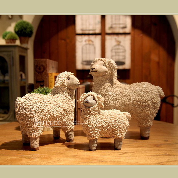 alps european and american lamb sheep french country home decorations ornaments crafts lunar. Black Bedroom Furniture Sets. Home Design Ideas