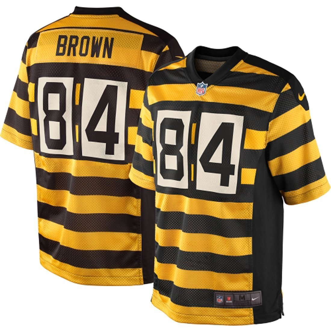 b9b2968f495 Get Quotations · Pittsburgh Steelers Antonio Brown Youth Throwback Nike  Bumblebee Game Jersey (YOUTH MEDIUM)