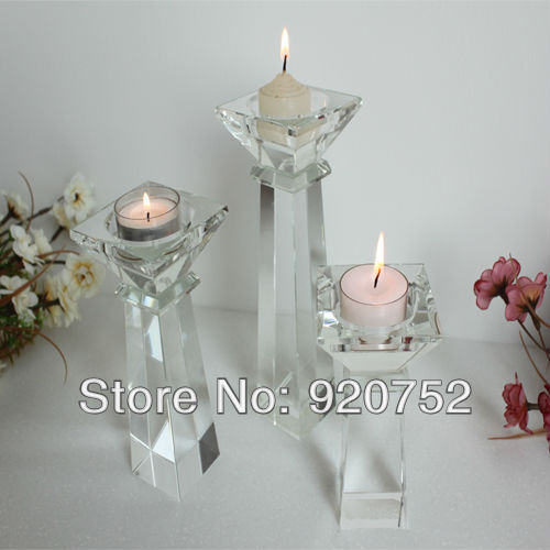 Wholesale Suppliers Home Decor: Wholesale Crystal Candlestick New Columnar Crystal