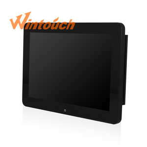 Hot sale 12 all in one touch pos pc with LED customer display magnetic card reader