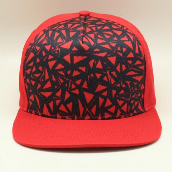 Sublimação design pattern cap bill plana snapback chapéu vermelho 5 painéis  chapéu esportes 5aa83fd683e