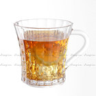 9oz unbreakable polycarbonate crystal diamond clear 270ml plastic coffee mug plastic coffee cups with handle