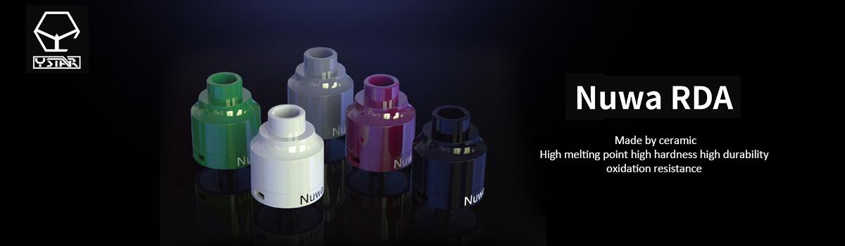 New Arrivals 2018 Ystar Nuwa Ceramic Rda Rebuildable Dripper Atomizer - Buy  Vape Tank Rda,Ceramic Rda Atomizer,Ceramic E-cigarette Product on