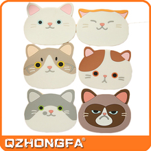 New Style Silicone Multi-Use Cartoon Cat Trivet Mat(set of 6 Pack)Insulated Flexible Durable Non Slip Hot Pads and Coasters Cup
