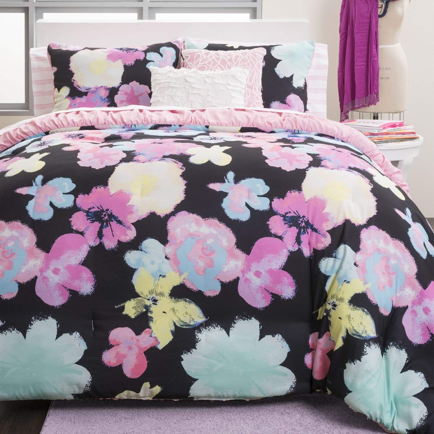 Cheap Pink And Black Comforter Find Pink And Black Comforter Deals