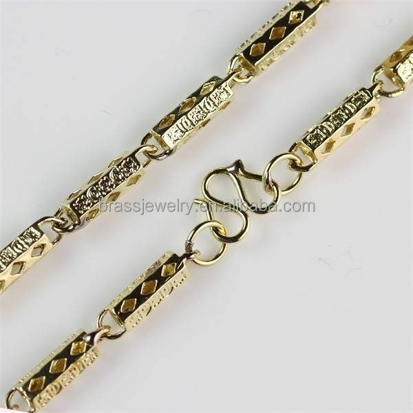 Yiwu Brass Jewelry Factory High Quality Fake Gold Chain Necklace Jewelry