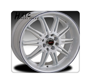 Good performance white alloy chrome rim wheels with black lip in 15inch