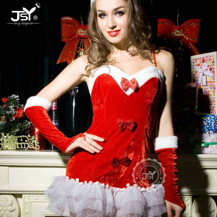 Mulheres baratos sexy girl beauty costume de natal lingerie