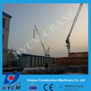 10t QTD125 Luffing Tower Crane