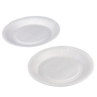 wholesale 8 inch Disposable ps food grade plastic foam large plastic round tray party plate wedding and salad packaging