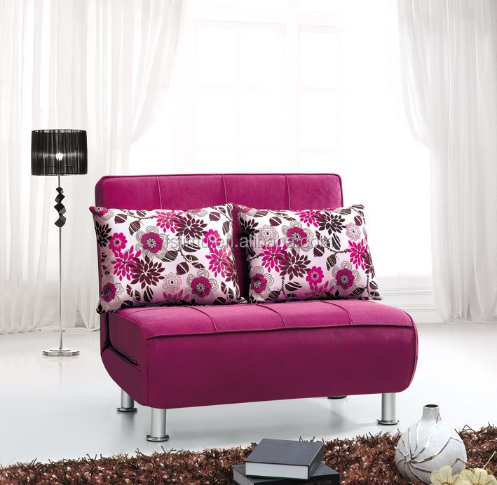 Fabric chaise lounge sofa for bedroom,folding single sofa bed,washed sofa bed