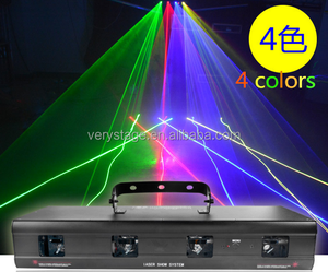 4 HEAD LED LASER SCAN DMX Effect Scanner Disco Party DJ Light