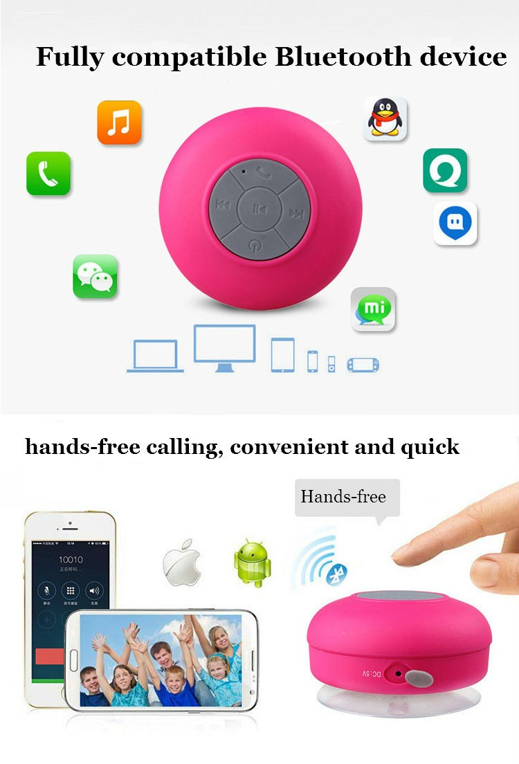 Best selling mp3 waterproof silicone blue tooth speaker of 2018 with sucker