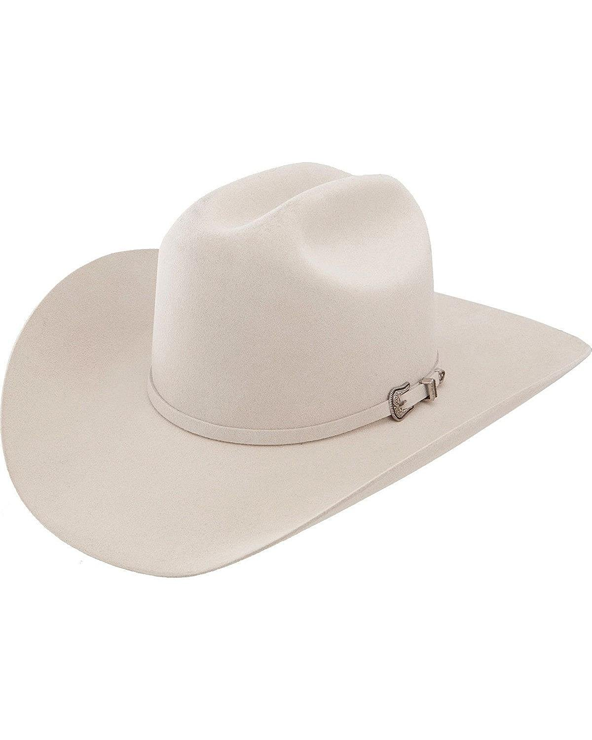 3a1958b626880 Get Quotations · Resistol Men s 5X Challenger Fur Felt Silverbelly Cowboy  Hat - Rftchg-7540 Sb